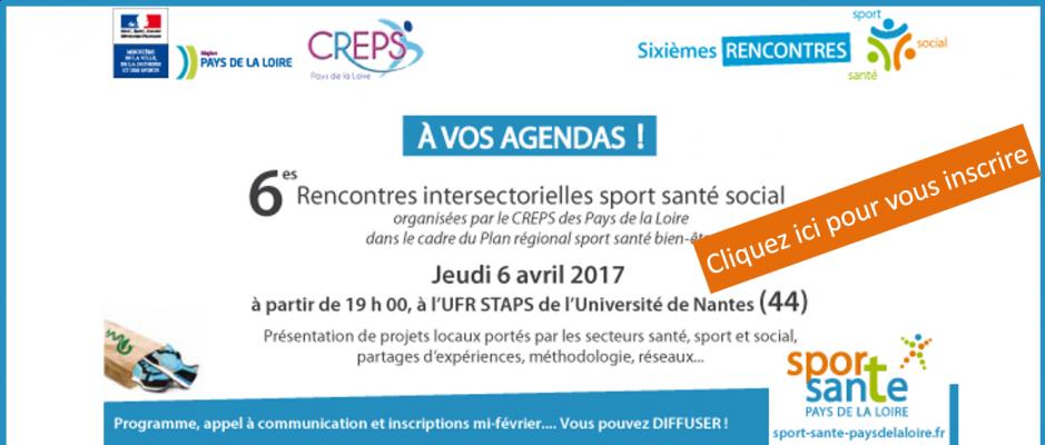6es rencontres intersectorielles sport sante social